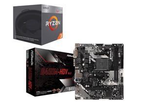 AMD RYZEN 3 2200G Quad-Core 3.5 GHz AM4 Desktop Processor + Motherboard