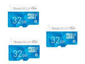 3-Pk. Team Group Color Card 32GB MicroSDHC Card