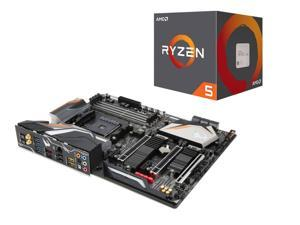 AMD RYZEN 5 2600 6-Core 3 4 GHz, GIGABYTE X470 AORUS GAMING7 WIFI AM4 AMD  X470 SATA 6Gb/s USB 3 1 ATX AMD Motherboard