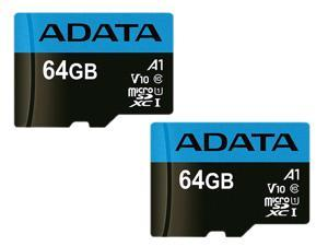 Deals on 2 ADATA 64GB Premier microSDXC UHS-I/Class 10 V10 A1 Memory Card