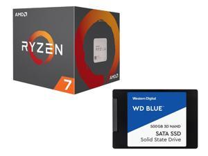 AMD Ryzen 7 2700 8-Core 3.2 GHz Socket AM4 65W Desktop Processor + WD Blue 3D NAND 500GB Internal SSD + Tom Clancy's The Division 2 Gold Edition & World War Z