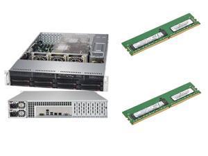 SUPERMICRO 6019P-WTR 1U Rackmount Server Barebone Dual LGA 3647 Intel C621  2666 / 2400 / 2133 MHz ECC DDR4 SDRAM, 2 x Supermicro (HMA84GR7CJR4N-VK)