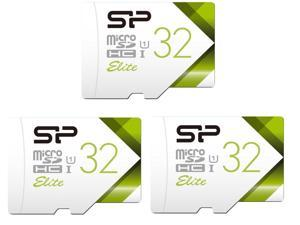 3 Pack Silicon Power Elite 32GB UHS-I / Class 10 MicroSDHC Memory Card