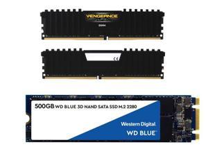 Western Digital Blue 500GB Internal Solid State Drive + 16GB Corsair RAM