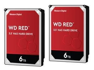 "2-Pack Western Digital Red 3.5"" 6TB Internal Hard Drive"