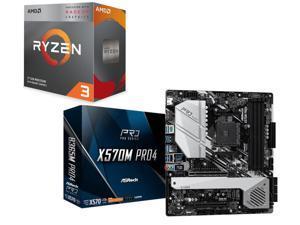 AMD RYZEN 3 3200G 4-Core 3 6 GHz (4 0 GHz Max Boost) Socket AM4 65W  YD3200C5FHBOX Desktop Processor, ASRock X570M PRO4 AM4 AMD X570 SATA 6Gb/s  Micro