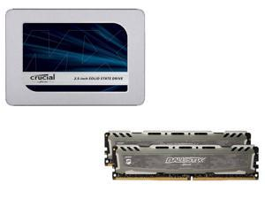 Deals on Ballistix Sport LT 16GB Kit Memory + Crucial MX500 500GB Internal SSD