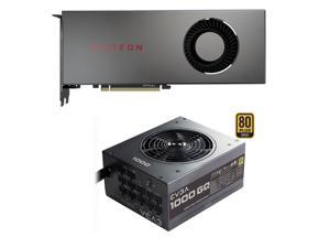 XFX Radeon RX 5700 DirectX 12 RX-57XL8MFG6 8GB 256-Bit GDDR6 PCI Express  4 0 CrossFireX Support Video Card + EVGA 1000GQ 210-GQ-1000-V1 GQ 80 Plus