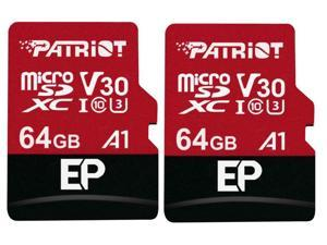 2-Pack Patriot Memory PEF64GEP31MCX 64GB microSDXC Card