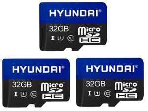 3 x HYUNDAI 32GB Premier microSDXC UHS-I / Class 10 Memory Card w/ Adapter