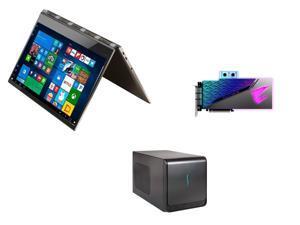 Lenovo Yoga 920 2-in-1 Laptop - Intel Core i7 8th Gen 8550U, GIGABYTE AORUS  GeForce RTX 2080 8GB, Sonnet eGFX Breakaway Box 650 (eGPU Expansion