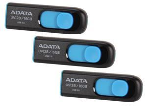 3-Pack ADATA UV128 16GB USB 3.0 Flash Drive