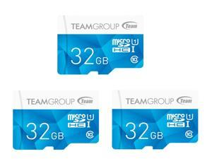 3-Pack Team Group Color 32GB UHS-I / Class 10 533x MicroSDHC Memory Card (TCUSDH32GUHS40)