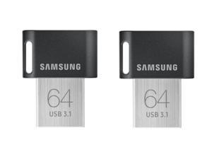 2 x Samsung 64GB FIT Plus USB 3.1 Flash Drive, Speed Up to 200MB/s (MUF-64AB/AM)