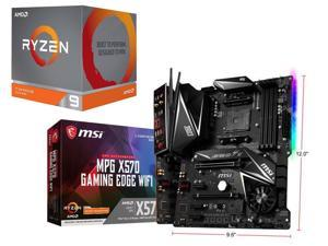 AMD RYZEN 9 3900X 12-Core 3.8 GHz (4.6 GHz Max Boost) + MSI MPG X570 GAMING EDGE WIFI Gaming