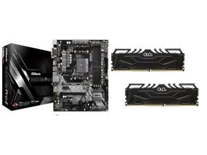 ASRock B450M PRO4 AM4 Micro ATX AMD Motherboard + OLOy 32GB (2 x 16GB) DDR4 3200 (PC4 25600) Desktop Memory Model MD4U163216CGDA