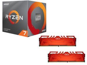 AMD RYZEN 7 2700 8-Core 3.2 GHz (4.1 GHz Max Boost) Socket AM4 65W YD2700BBAFBOX  + OLOy 32GB (2 x 16GB) DDR4 3200 (PC4 25600) ...