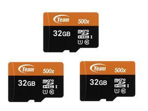 3-Pack Team TUSDH32GUHS03 32GB UHS-I / Class 10 533x MicroSDHC Memory Card