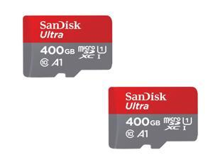 2-Pack SanDisk Ultra 400GB Class 10 700x microSDXC Memory Card with SD Adapter