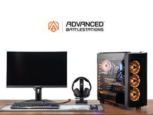 "ABS Gladiator Battlestation - Intel i9-10900KF - Geforce RTX 3080 - 32GB DDR4 - 1TB NVMe SSD - 27"" 165Hz 1440P Curved Gaming ..."