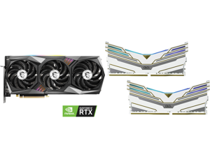 MSI GeForce RTX 3070 DirectX 12 RTX 3070 GAMING X TRIO 8GB 256-Bit GDDR6 PCI Express 4.0 HDCP Ready Video Card and OLOy WarHawk ...
