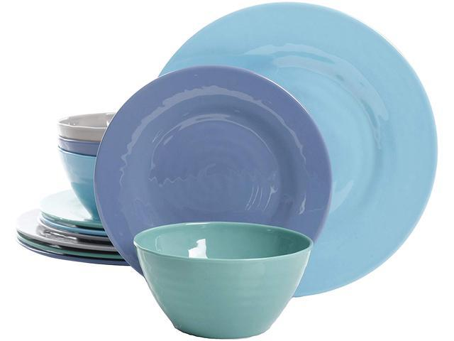 Gibson 116936.12 12 Piece Dinnerware Set, Assorted Colors photo