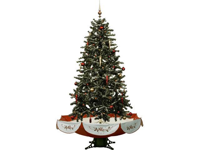 "Fraser Hill Farm 55"" Snowing Musical Christmas Tree With"