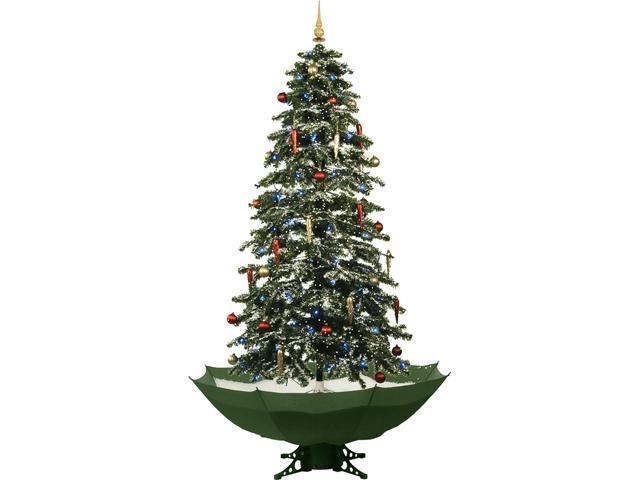 "Fraser Hill Farm 67"" Snowing Musical Christmas Tree With"