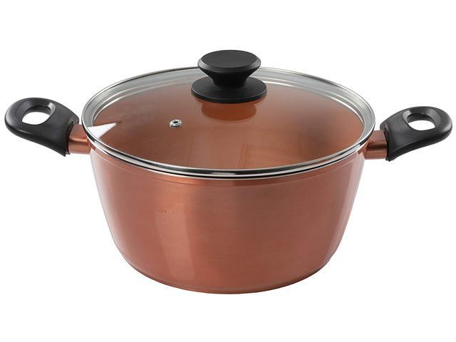 Gibson Eco Friendly Home Hummington 4.5 Quart Dutch Oven with Lid in Metallic Copper photo