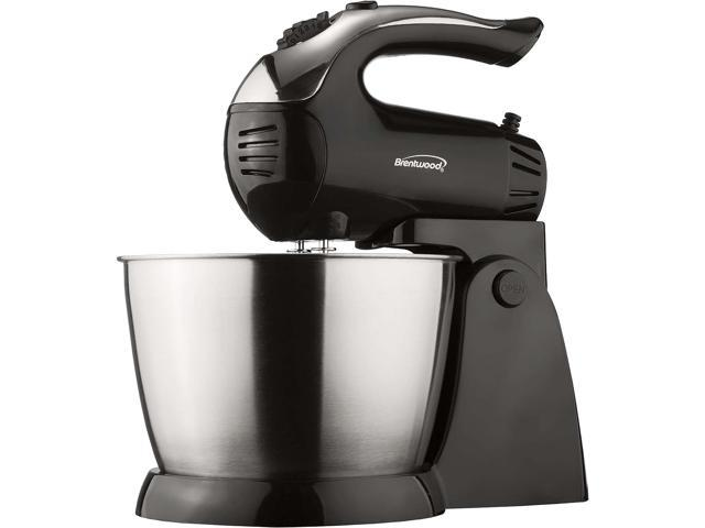 Brentwood(R) Appliances SM-1153 5-Speed + Turbo Electric Stand Mixer with Bowl (Black) photo