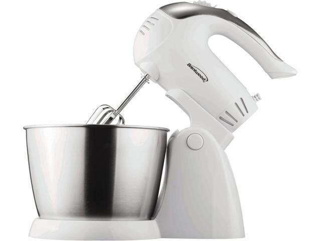Brentwood Appliances SM-1152 5-Speed + Turbo Electric Stand Mixer with Bowl (White) photo