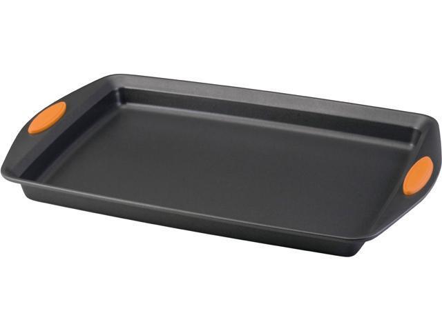 Rachael Ray 54071 Oven Lovin' Non-Stick 11' x 17' Crispy Cookie Baking Sheet, Orange photo