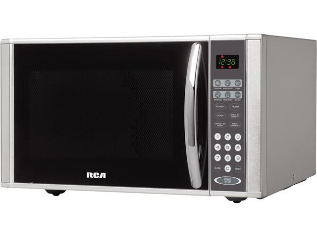 RCA 1.1 cu. ft. Countertop Microwave - Stainless Steel photo