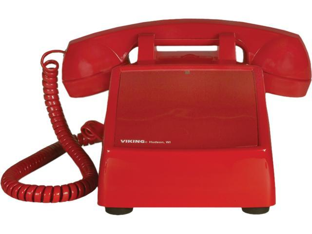 Viking No Dial Desk Phone, Red VK-K-1500P-D photo
