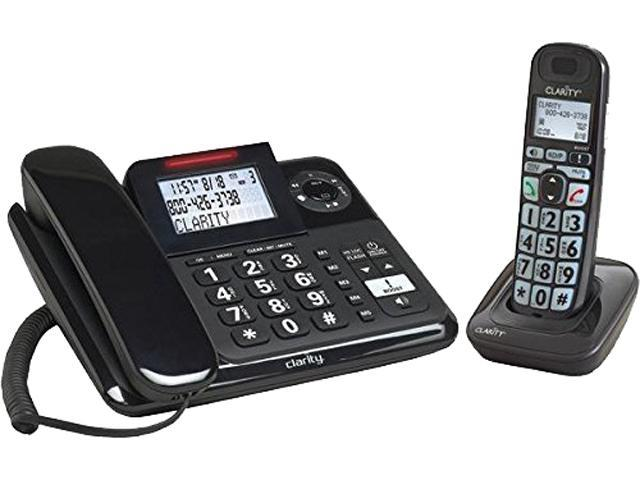 Clarity E814CC Amplified Corded Desk Phone with Answering Machine and Cordless Handset, 53727.000 (017229137035 Electronics Communications Telephony Corded Phones) photo
