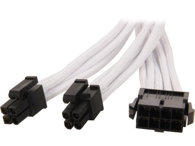 Silverstone PP07-EPS8W Sleeved Extension Power Supply Cable, 1 x ...