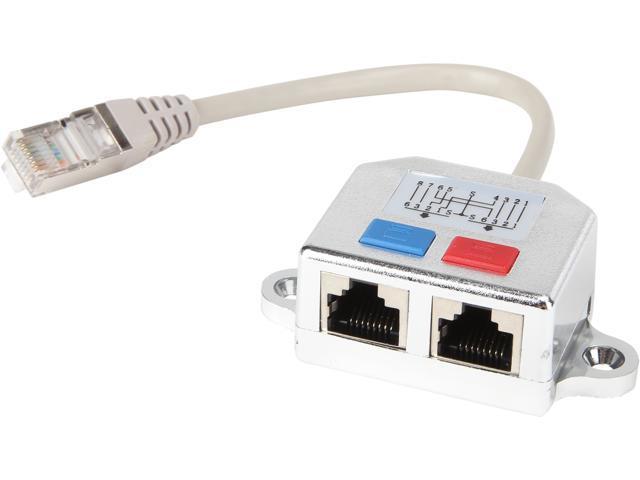 Tripp Lite Rj45 Splitter Adapter Cable 10  100 Ethernet