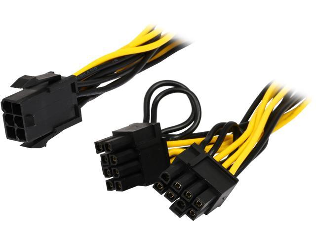 12-423-160 TX4SPL2-6 Coboc 6 Sleeved 6 inch 1 to Two x 4-pin TX4 PWM Fan Power Splitter Cable Black 2