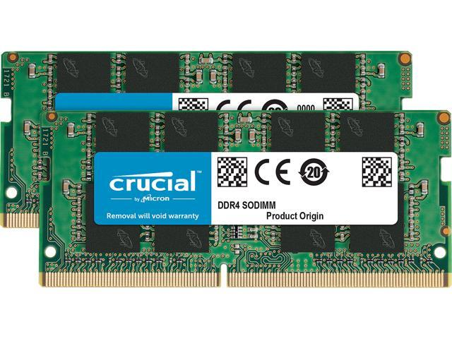 Crucial 32GB (2 x 16GB) 260-Pin DDR4 SO-DIMM DDR4 3200 (PC4 25600) Laptop Memory Model CT2K16G4SFRA32A