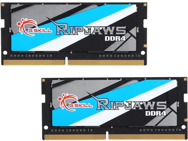 G.SKILL Ripjaws Series 32GB (2 x 16GB) 260-Pin DDR4 SO-DIMM DDR4 2666 (PC4 21300) Laptop Memory Model F4-2666C18D-32GRS