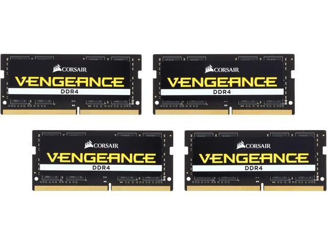 CORSAIR Vengeance Performance 64GB (4 x 16GB) 260-Pin DDR4 SO-DIMM DDR4 2666 (PC4 21300) Laptop Memory Model CMSX64GX4M4A2666C18