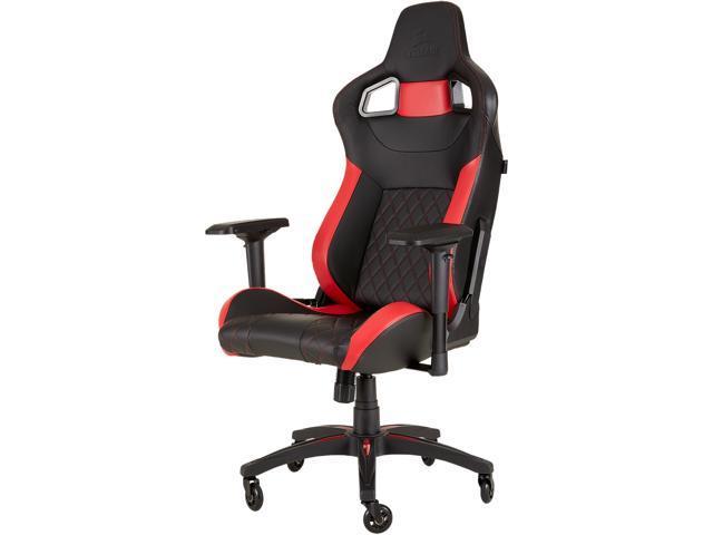 Corsair t1 race gaming chair - black / red