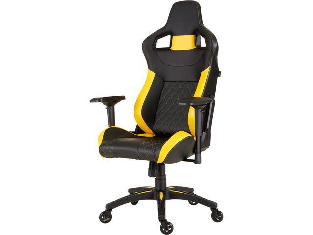 Corsair t1 race gaming chair - black / yellow