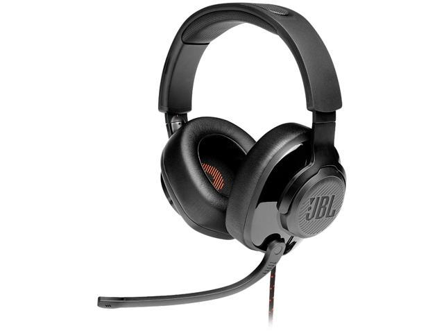 JBL QUANTUM 200 Circumaural Gaming Headset, Black
