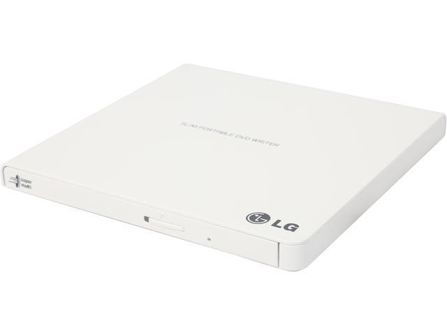 LG External CD/DVD Rewriter With M-Disc Mac & Surface Support (White) - Model GP65NW60 photo