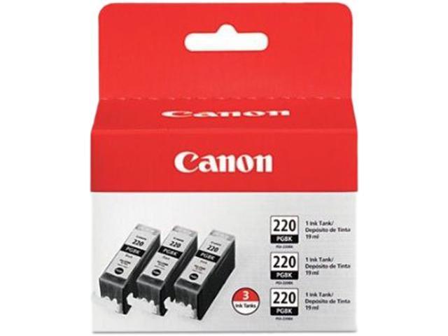 Canon PGI-220 Ink Cartridge - Triple Pack - Pigmented Black