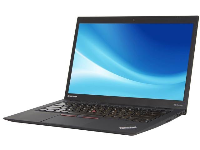 Recertified - Lenovo Grade A Laptop X1 Carbon Intel Core i7 4th Gen 4600U (2.10 GHz) 8 GB Memory 256 GB SSD 14.0' Windows 10 Pro 64-Bit