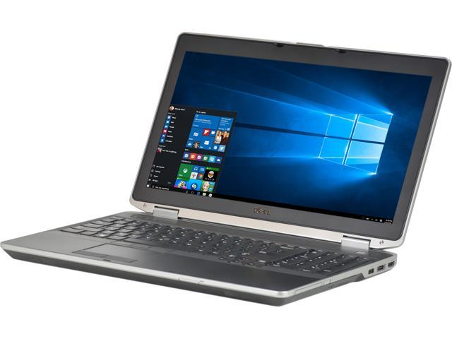 Recertified - DELL B Grade Laptop E6530 Intel Core i5 3rd Gen 3320M (2.60 GHz) 8 GB Memory 320 GB HDD 15.6' Windows 10 Pro 64-Bit