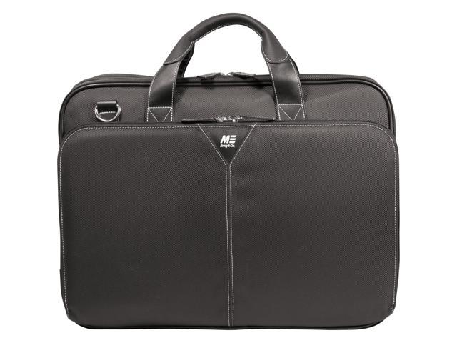 Mobile Edge Black Premium Nylon Laptop Briefcase - 16' PC/17' MacBook Model MEBCNP1