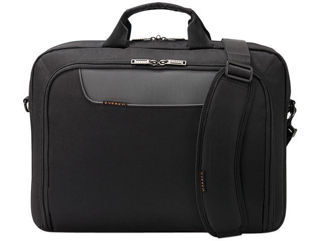 Everki Black Advance Laptop Briefcase, fits up to 16' Model EKB407NCH